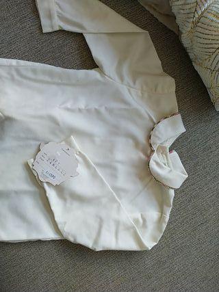 Camisa niña blanco roto