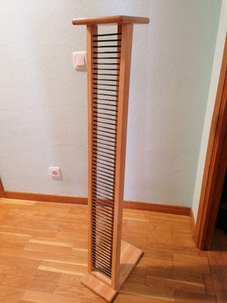 Torre 60 CDs madera