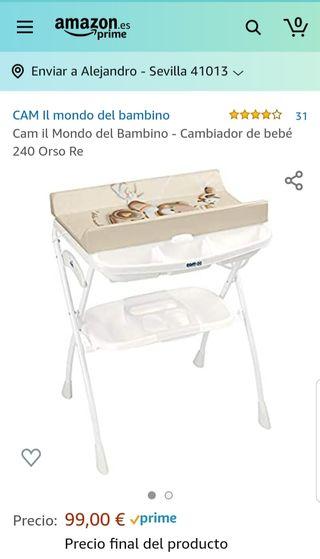 Cambiador bañera bebé CAM
