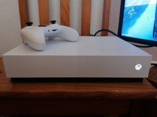 Xbox One S All Digital 1tb. 13 juegos y 1 mando.