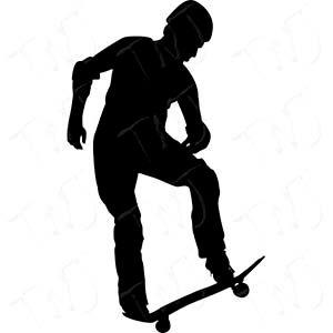 Pegatina vinilo Skater