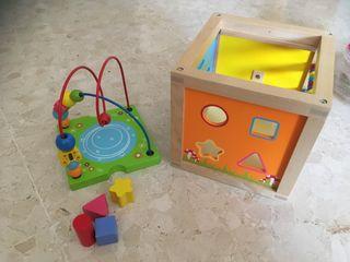 Caja actividades madera