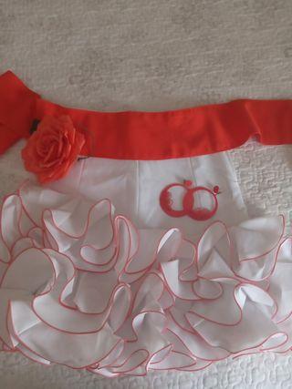 Falda flamenca+complementos