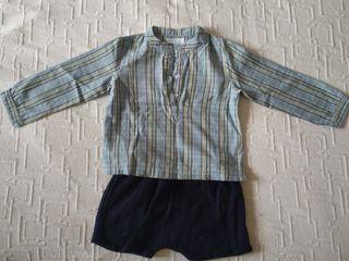 Conjunto niño pantalón+camisa.12-18 meses