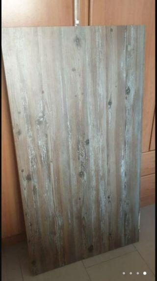 encimera sin estrenar madera