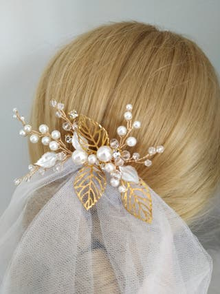 Peina Joya para novia invitada a boda tocado joyas