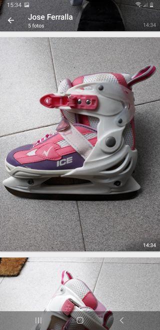 Patin línea hielo niña 34-37 como nuevo.