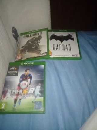 lote de tres juegos de Xbox one