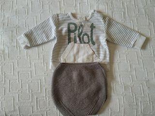 Conjunto braguita+camiseta bebe