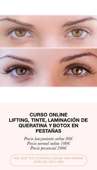 CURSO LIFTING DE PESTAÑAS ONLINE