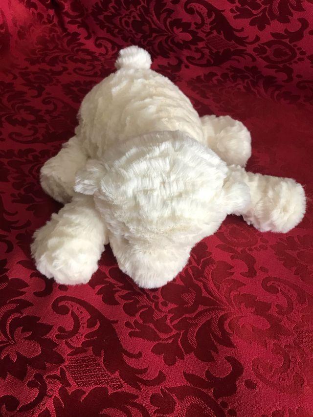 Peluche oso polar blanco/ marfil