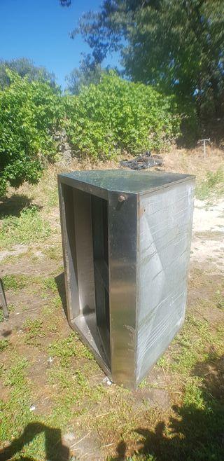 fregadero y campana extractora industrial de acer