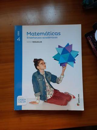 Libro de Matemáticas 4 ESO SANTILLANA