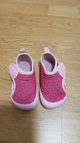 Zapatillas bebé gimnasia Domyos 19