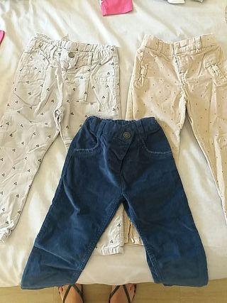 pantalones pana talla 2-3 años