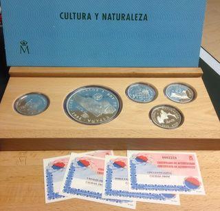 Cultura y Naturaleza´96 (4 monedas y una medalla)