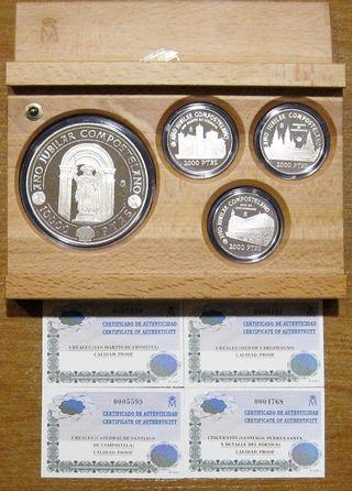 Año Santo Jacobeo´99 (3 monedas 2000 y 1 de 10000)