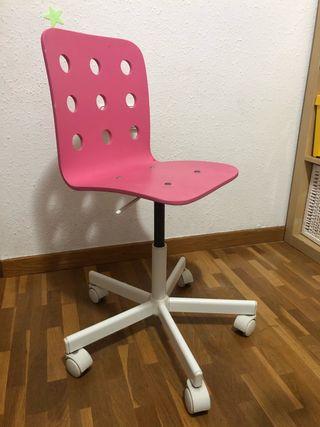 Silla JULES escritorio rosa niña Ikea