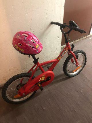 Bicicleta infantil + casco