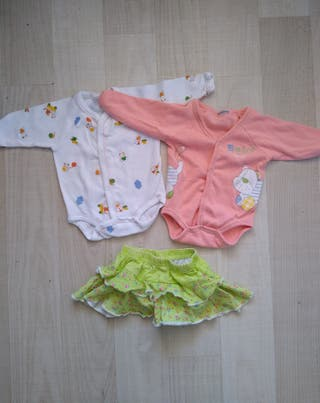 0 meses dos bodies y falda