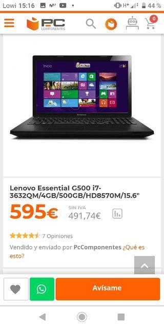 Ordenador Portátil Pc Gamer I7 Gaming Lenovo g500