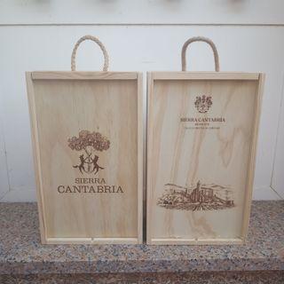 Cajas de madera de Botellas de Vino. Nuevas