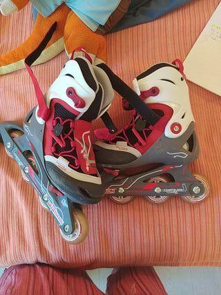 patines 4 ruedas en linea. seminuevos