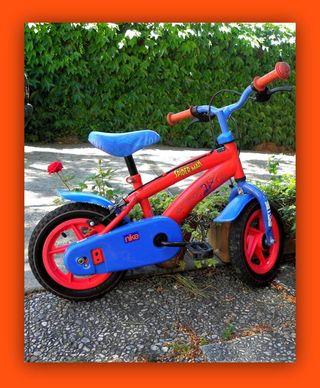 Bicicleta infantil Spiderman 12 pulgadas