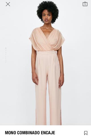 Mono Zara. Color rosa nude. XS