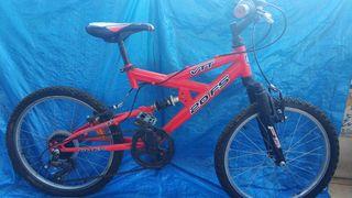 """bicicleta 20"""" con doble amortiguación y marchas"""