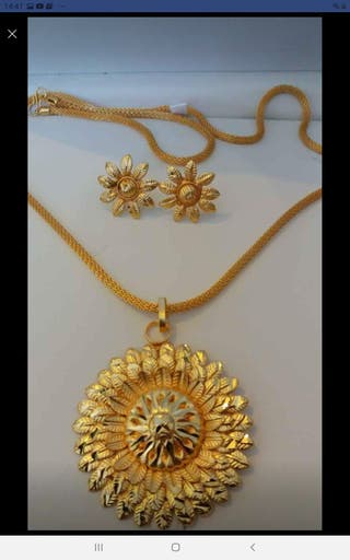 22k Gold plated stunning pendent sets designs