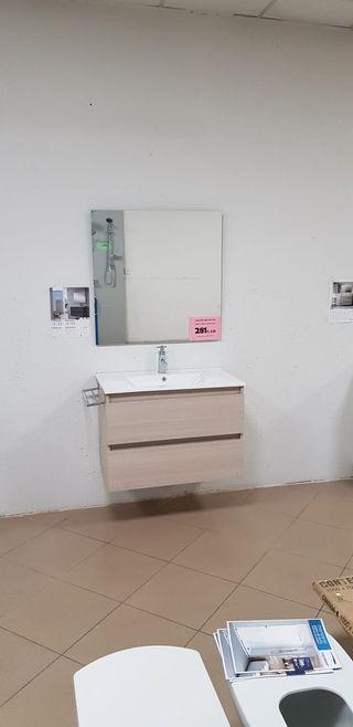 Mueble de baño 80x45 suspendido