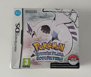 caja del juego Pokemon edición plata