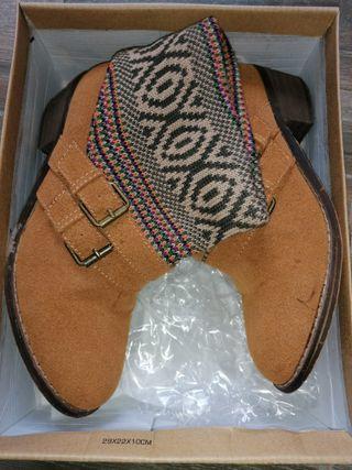 botín marrón