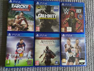 Pack juegos PS4.