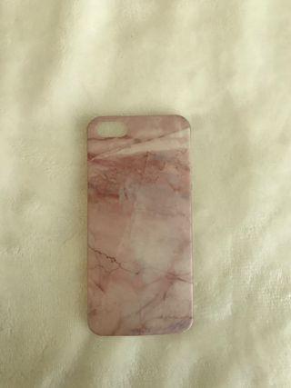 Funda silicona mármol rosa iphone 5s Pull and Bear