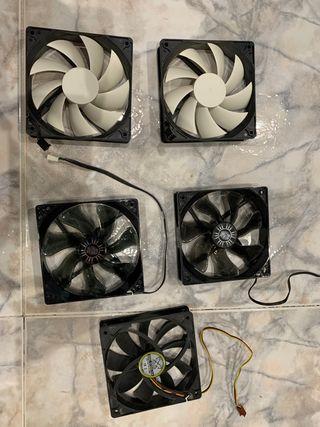 5 Ventiladores CPU 120mm
