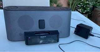 Radio con despertador Sony
