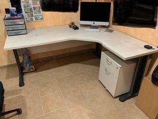 Mesa escritorio + cajón despacho