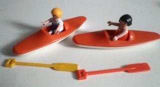 figuras niños piragua playmobil