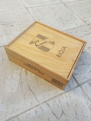 caja para botellas madera