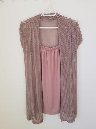 Blusa/top color malva talla M