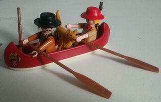 guarda forestal canoa playmobil