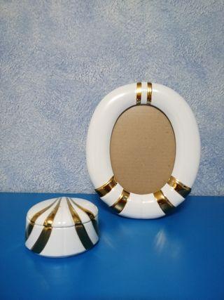 Juego tocador ceramica blanco