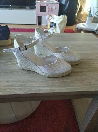 zapato novia esparto
