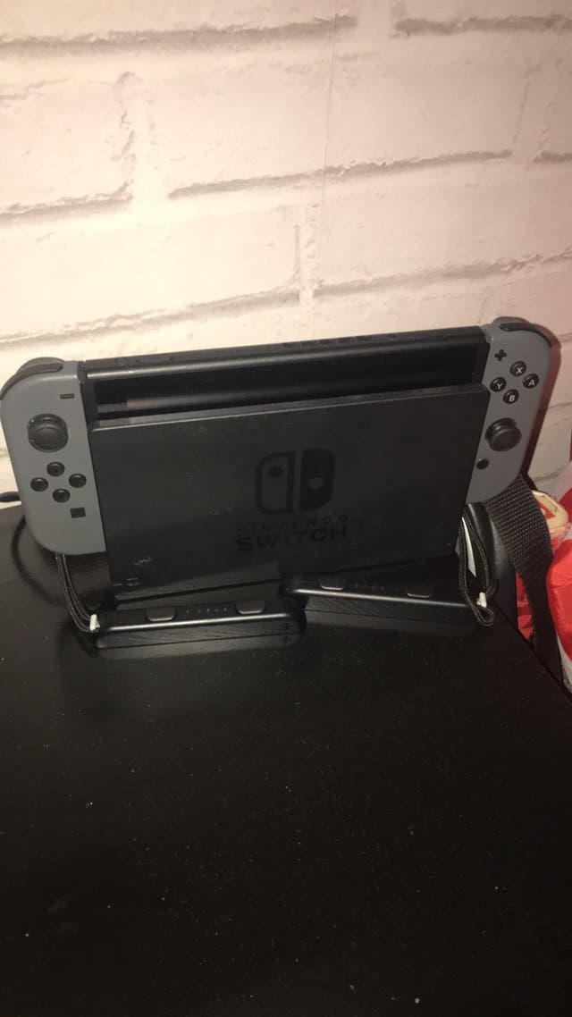 Nintendo switch grey 32gb console with 2 games