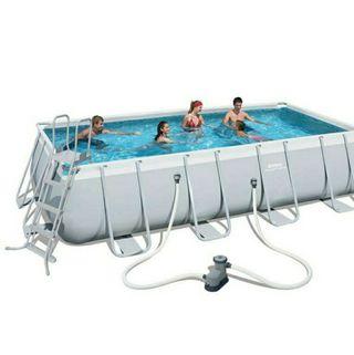 Estructura piscina rectangular
