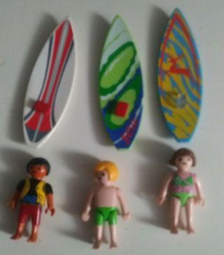 figuras niños surfistas playmobil