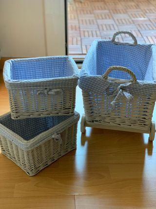 Conjunto canastillas decoración bebé