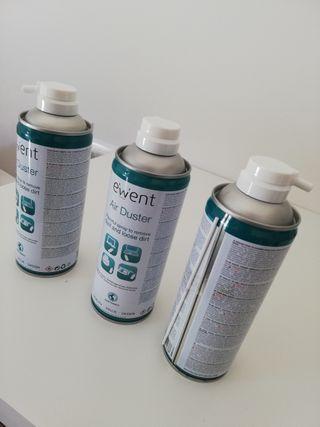 Aire comprimido limpieza de pc
